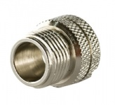 A-CAP-M12F-F  - Knurled threaded Metal Cap for M12 Female Connectors