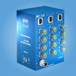 AL100 Industrial Gigabit Ethernet Switch - 5 bis 15 Port 1000BASE-T Ethernet • M12-X Stecker