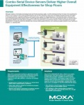 NPort Application Guides - Combo Serial Device Servers Deliver Higher Overall Equipment Effectiveness for Shop FloorsCombo Serial Device Servers Deliver Higher Overall Equipment Effectiveness for Shop Floors