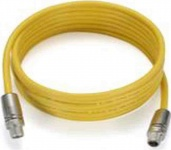 CBL-M12XMM8P-Y-300-IP67 3-meter M12-to-M12 Cat-5 UTP Ethernet cable with IP67-rated 8-pin male X-coded crimp type M12 connector