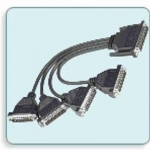 CBL-M37M25x4-30 - DB37(M) to 4 x DB25(M) Cable