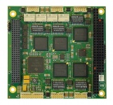 COM-1452 PC/104-Plus Multi-Ethernet Module with 5 Fast Ethernet Controllers
