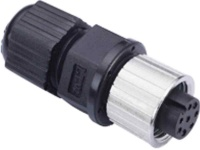 M12A-8PFF-IP68 - Field-Installation A-coded, M12 Screw-in 8-pin Female Connector