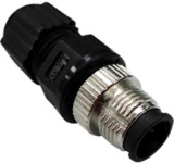 M12A-8PMM-IP67 - Field-Installation A-coded, M12 Screw-in 8-pin Male Connector, IP-67