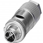 M12X-8PMM-IP65 Field-installable M12 X-coded crimp type, slim design connector, 8-pin male, IP65