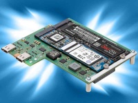 S40-NVME - Low Profile Mezzanine for CompactPCI® Serial CPU Cards: M.2 NVMe and SATA SSD Storage