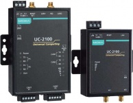 UC-2100-W Series - Arm-based wireless-enabled palm-sized industrial computer with up to 2 serial ports, built in LTE and 2 LAN ports