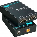 UPort 1250/1250I - 2-port RS-232/422/485 USB-to-serial converter with opt. 2 KV isolation