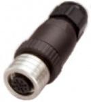 M12 5-Pole female Auxiliary Power Connector, Ultra-Lock, field attachable