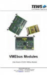 VMEbus Modules - Data Sheets of TEWS' VMEbus Modules
