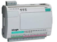 ioLogik E2212 Active Ethernet I/O with 8 digital inputs, 8 digital outputs, and 4 configurable DIO